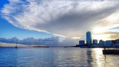 Photo of Un magnifique nuage et à la fois surprenant s'est développé sur Fort-de-France