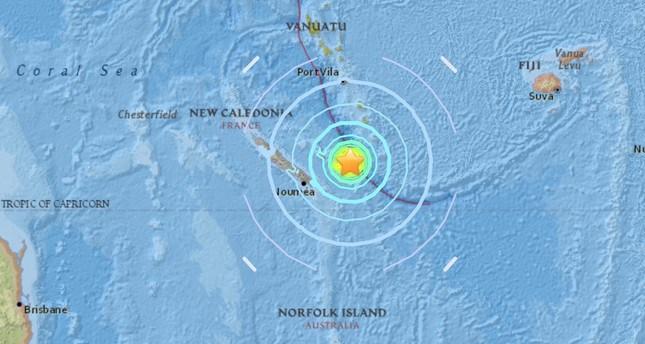Séisme de magnitude 7 près des îles Loyauté