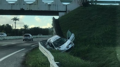 Photo of Spectaculaire accident de la route à Carrère au Lamentin