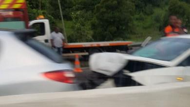 Photo of Deux véhicules impliqués dans un accident de la route à Lestrade au Robert
