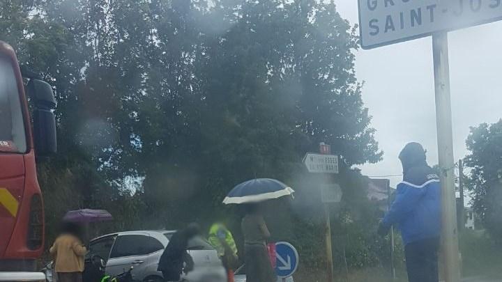 Accident moto voiture Trinité