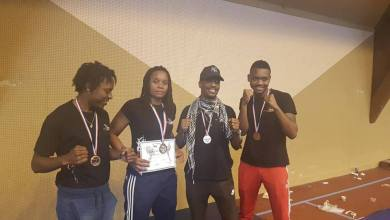 Photo of La martiniquaise Valérie Bonose championne de France de K1 (Kick Boxing)