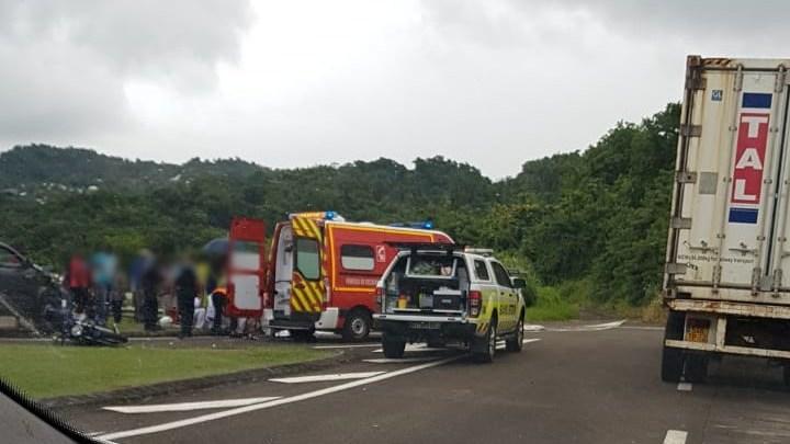 Un motard grièvement blessé dans un accident de la circulation à Bois-Rouge