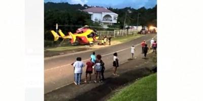 Une collision entre deux voitures fait 3 blessés dont un grave à Rivière-Salée