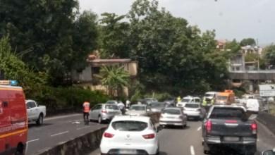 Photo of Embouteillage sur la Rocade de Fort-de-France suite à un accident