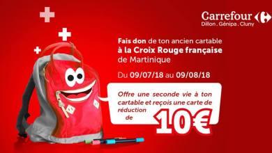 Photo of Grande collecte de cartables dans les magasins Carrefour avec la Croix-Rouge