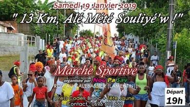 """Photo of Carnaval 2019 : une marche sportive de 13Km et en musique avec """"Nou Pa Sav"""" au Lamentin"""
