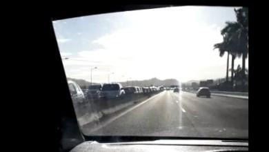 Photo of Accident de moto sur la RN5 juste avant le pont de l'aéroport. Embouteillage à prévoir
