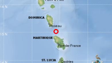 Photo of Un séisme de magnitude 4,2 enregistré en Martinique ce jeudi soir