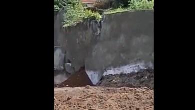 Photo of Glissement de terrain à Acajou : effondrement d'une partie du mur de soutènement (VIDÉO)
