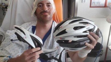 """Photo of """"Grâce au port du casque, je suis vivant» indique un cycliste victime d'un violent accident"""