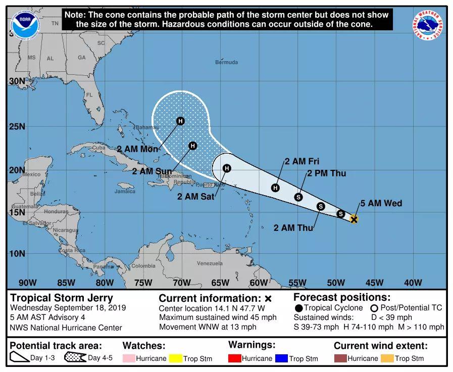 L'île de Saint-Martin se prépare — Tempête tropicale Jerry