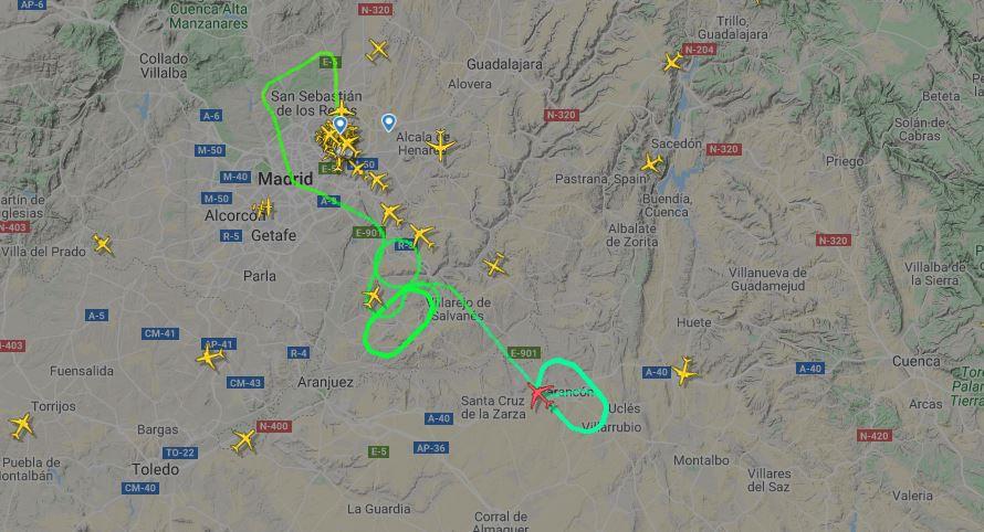 Atterrissage d'urgence d'un avion d'Air Canada à Madrid après un problème technique