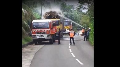 Photo of Début d'incendie dans le chargement d'un camion transportant de la canne au Saint-Esprit (VIDÉO)