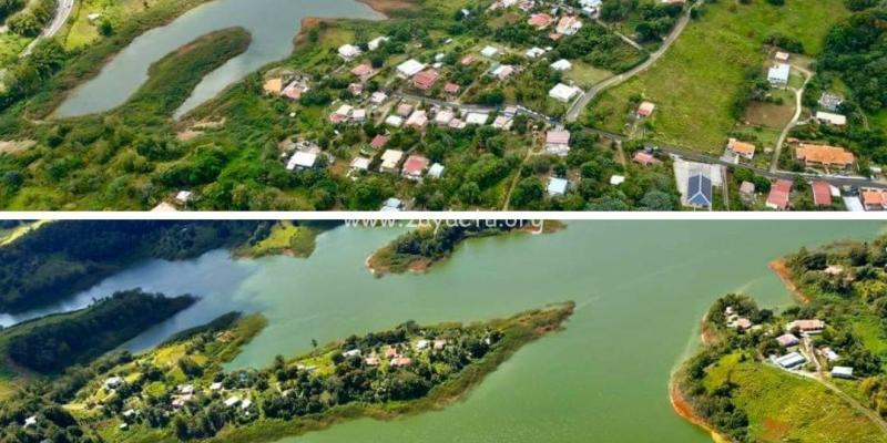 Photos aériennes du réservoir de la Manzo