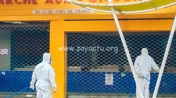 Opération de désinfection de Fort-de-France