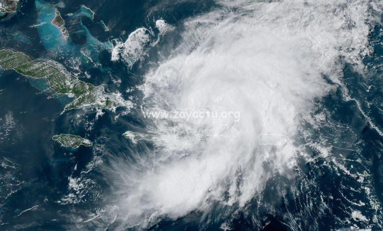 La tempête tropicale Isaias