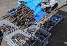 Photo de Déposez les armes : 1 093 armes récupérées par les forces de l'ordre lors de la précédente opération détruites, ce vendredi
