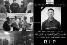 Photo de Un hommage rendu par les sapeurs-pompiers de Martinique à Alexandre Mirande décédé accidentellement