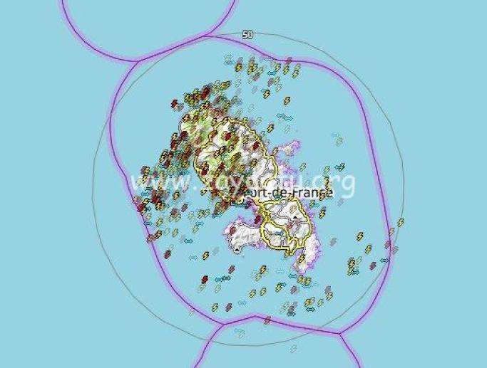Impacts de foudre en Martinique