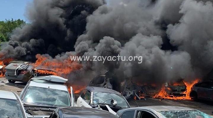 Incendie casse automobile Arcole