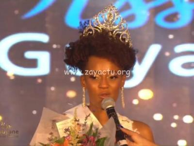 Héléneschka Horth élue Miss Guyane 2020. Capture d'écran Radio Péyi.
