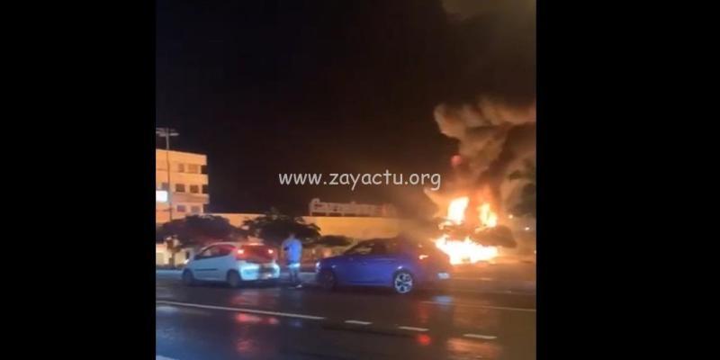 Incendie parking de Carrefour Dillon