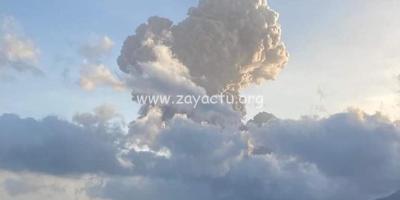 Explosion à la soufrière 16 avril 2021