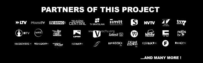 Les chaînes partenaires du projet.