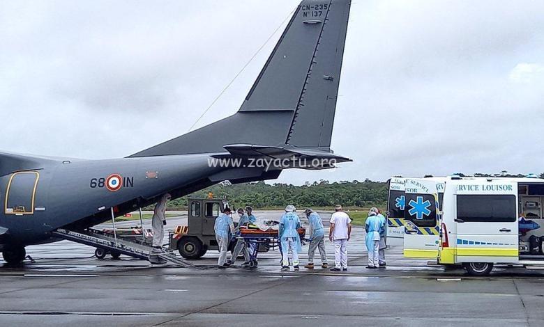 Deux patients covid de Guyane en partance vers la Martinique