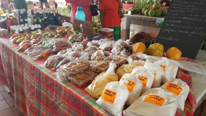 Produits au marché du François