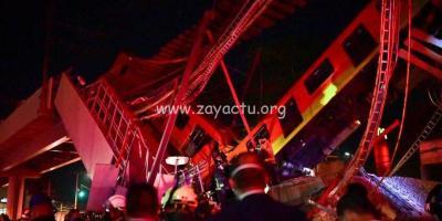 Un pont s'effondre avec un métro au Mexique