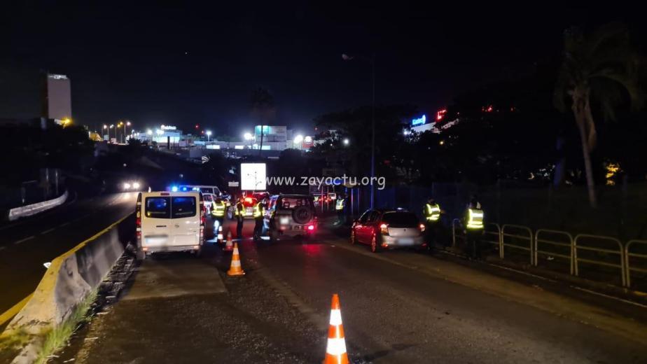 Un contrôle routier au rond-point de Jaham