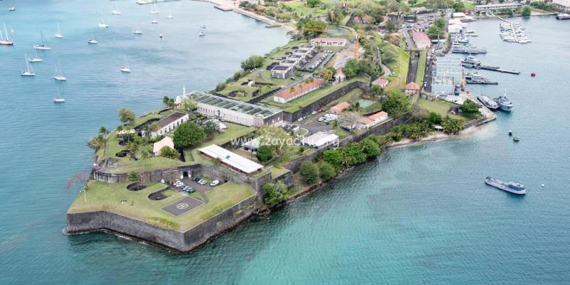 Le Fort Saint-Louis à Fort-de-France. Photo : Forces Armées Antilles