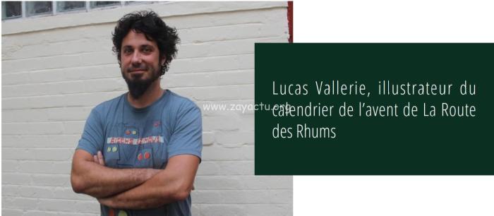 Lucas Vallerie, illustrateur du calendrier de l'avent de la Route des Rhums