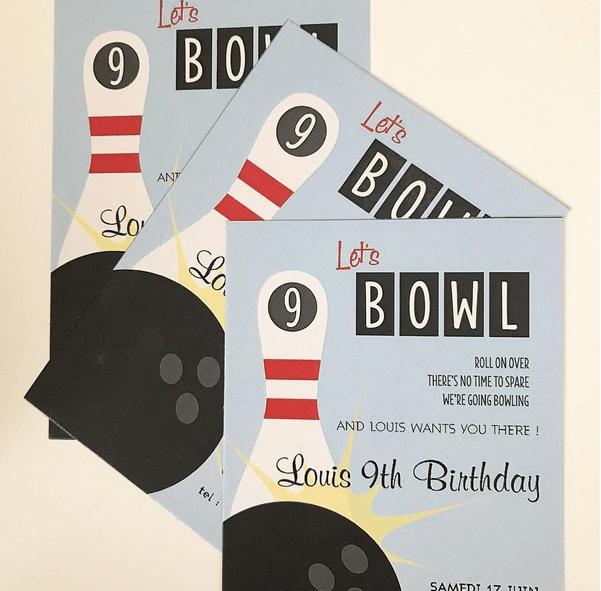 strike un anniversaire au bowling