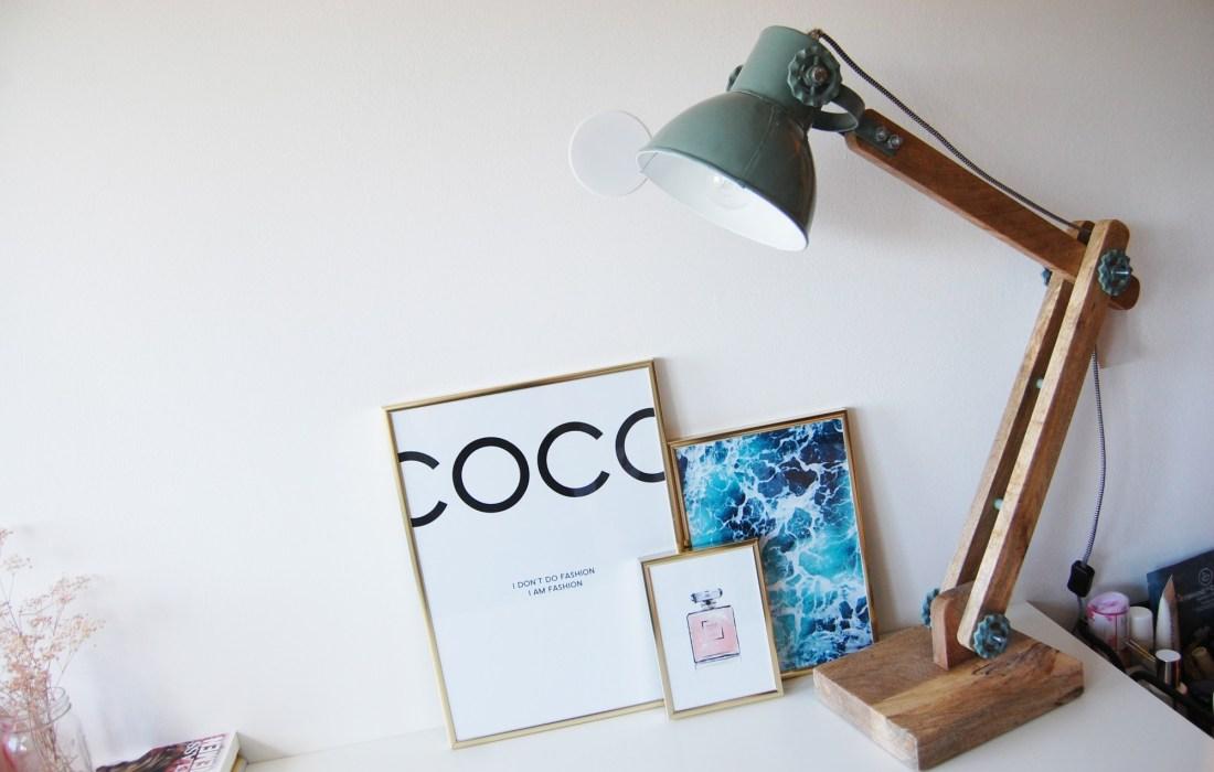Mijn nieuwste bloghoek aanwinst: een supergave industriële bureaulamp!