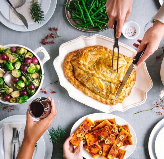 Dineren met een kerstbox