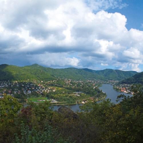Panoramatická vyhlídka z Vrkoče v Ústí nad Labem foto: Jiří Svoboda