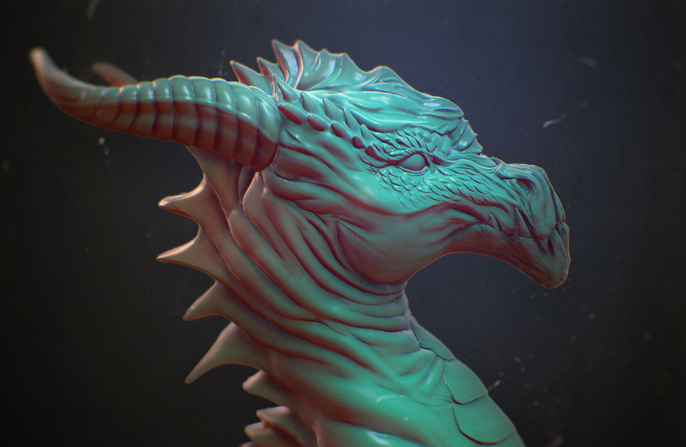 How to use Sculptris - Sketching a dragon head | ZBrush Guides