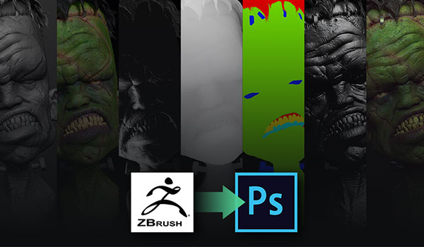 Compositing ZBrush BPR passes in Photoshop | ZBrush Guides
