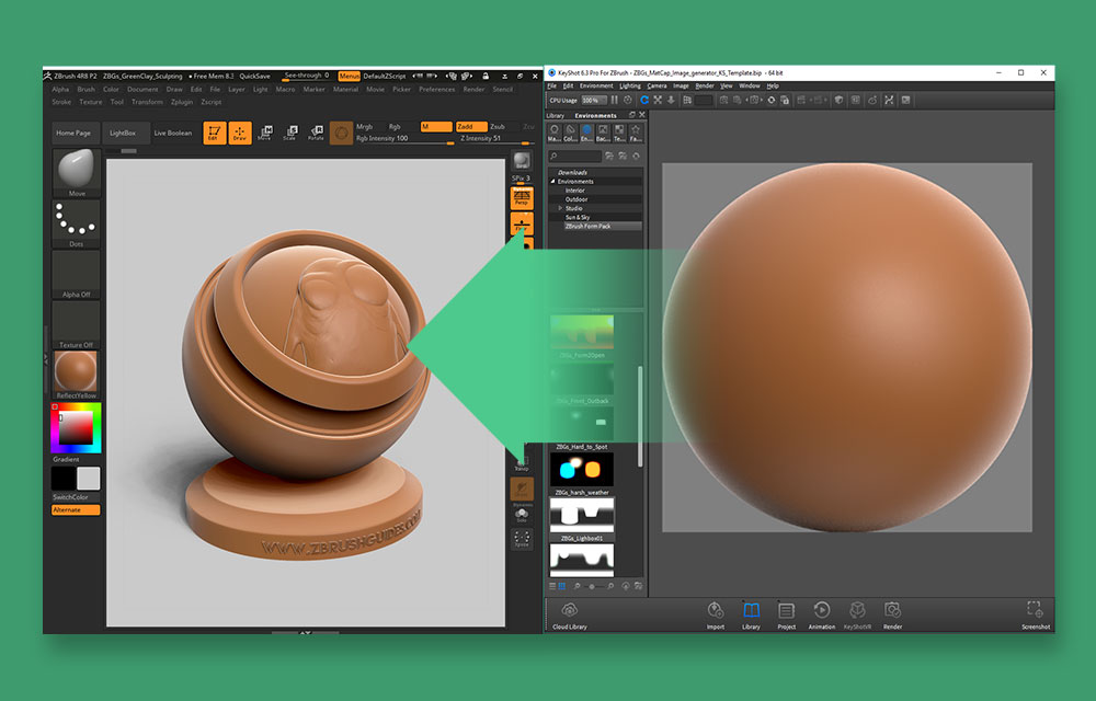 ZBrush FORM materials pack | ZBrush Guides