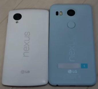 Nexus5とNexus5Xの大きさ比較