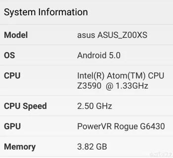 Zenfone Zoomのスペック