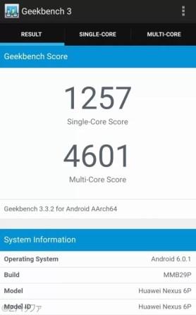 Nexus6Pの性能ベンチマーク結果