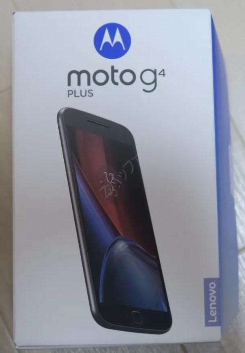 Moto G4 Plusの箱