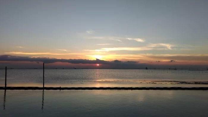 Moto G4 Plusのカメラで撮影した夕日写真