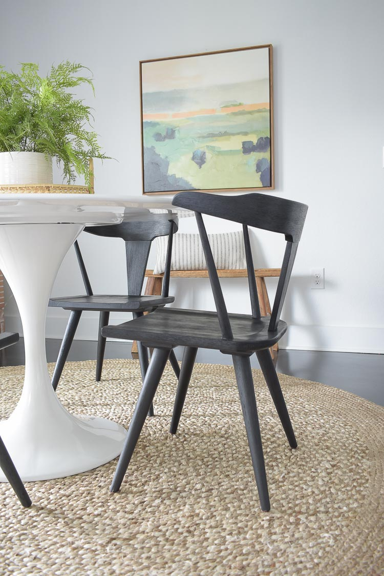 New Black Dining Chairs Spring Dining Room Tour Zdesign At Home