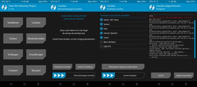 06_Samsung_Galaxy_S4_GT_I9505_jfltexx TWRP komplett_loeschen (image: ZDNet.de)