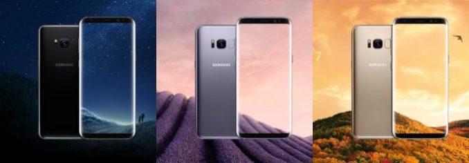 Galaxy S8: black, grey and gold (image: Samsung, Evan pale)